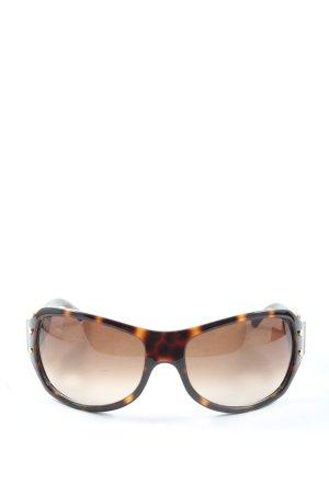 Jimmy Choo ovale Sonnenbrille braun-hellorange Casual-Look