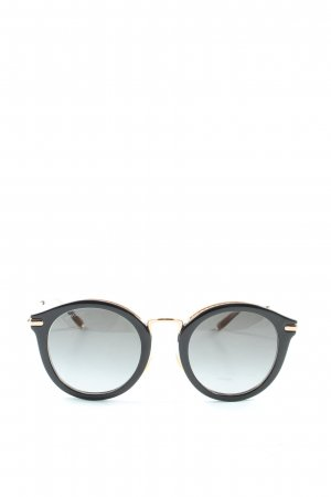 Jimmy Choo Round Sunglasses black-gold-colored casual look
