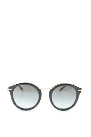 Jimmy Choo Gafas de sol redondas negro-color oro look casual