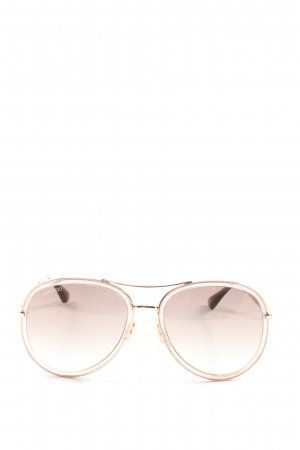 Jimmy Choo Gafas de sol ovaladas color oro look casual