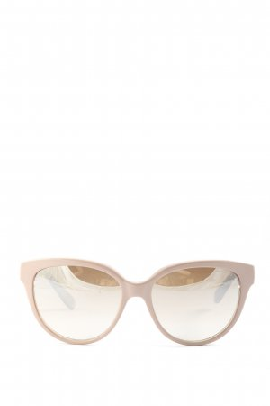 Jimmy Choo Panto Brille creme-pink Animalmuster Casual-Look