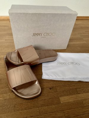Jimmy Choo Sabots rose-gold-coloured-sand brown