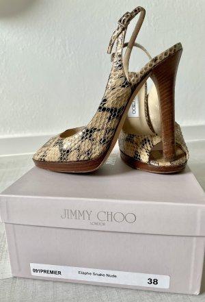 Jimmy Choo Peeptoes Schlangenleder 38