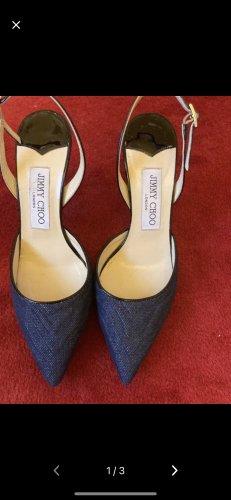 Jimmy Choo Classic Court Shoe dark blue