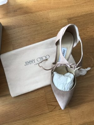 Jimmy Choo Lace-up Pumps nude