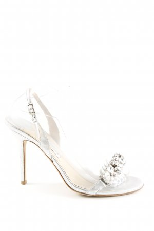 Jimmy Choo Strapped High-Heeled Sandals silver-colored elegant