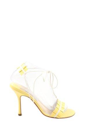 Jimmy Choo Riemchen-Sandaletten blassgelb Casual-Look