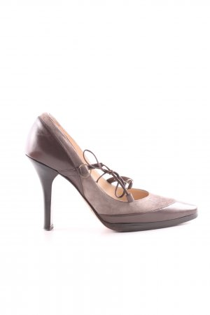 Jimmy Choo Strapped pumps bronze-colored casual look