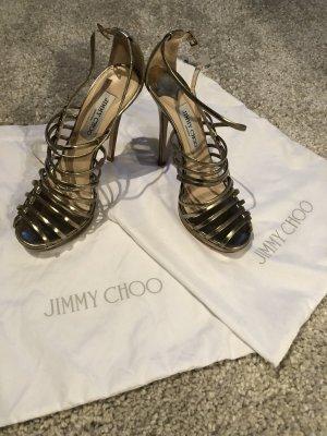 Jimmy Choo Sandalo con cinturino oro-crema