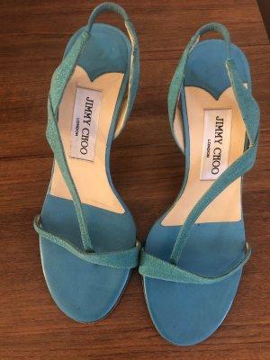 Jimmy Choo Sandaletten Türkis Tiffany blue high heels NP675$  Gr35,5