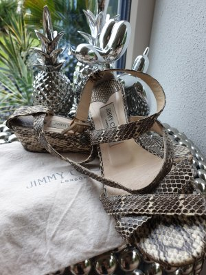 Jimmy Choo Platform Sandals taupe-natural white