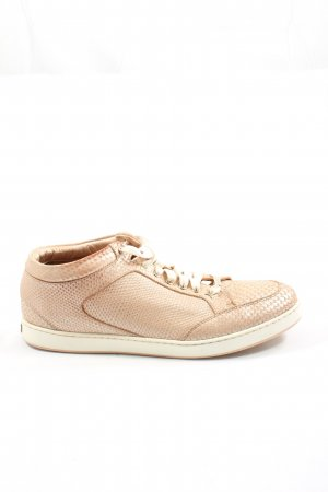 Jimmy Choo Lace-Up Sneaker cream athletic style