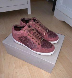 Jimmy Choo Lace-Up Sneaker bordeaux