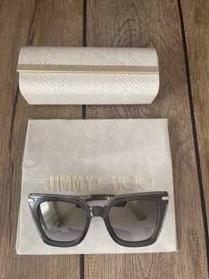 Jimmy Choo Okulary motylki szary-w kolorze różowego złota