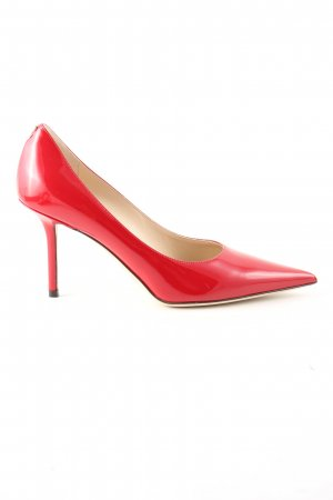 Jimmy Choo Spitz-Pumps rot Casual-Look