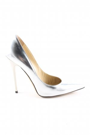 Jimmy Choo Spitz-Pumps silberfarben Casual-Look