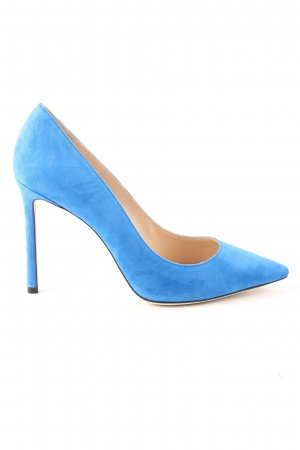 Jimmy Choo Spitz-Pumps blau Business-Look