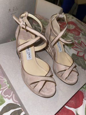 Jimmy Choo Strapped Sandals multicolored leather