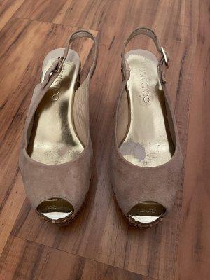 Jimmy Choo Wedge Sandals beige
