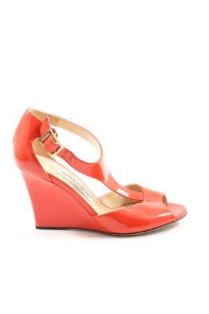 Jimmy Choo Wedge Sandals red casual look