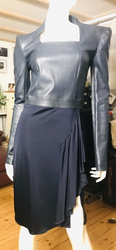 jitrois Leather Dress dark blue