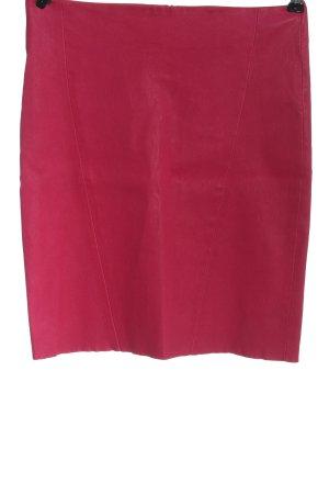 jitrois Jupe en cuir rose style décontracté