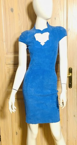 jitrois Robe en cuir bleuet cuir