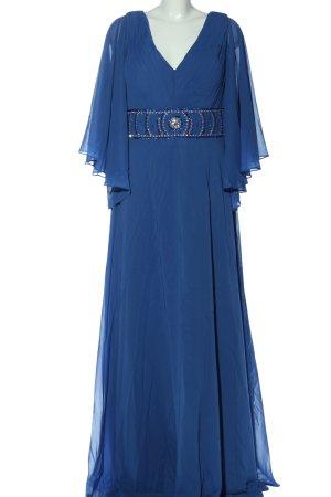 JJs House Maxikleid blau Schriftzug gestickt Elegant