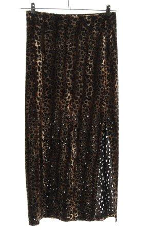 Joachim Bosse Maxi Skirt animal pattern casual look