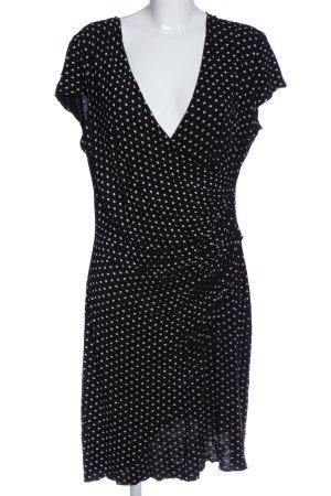 Joachim Bosse Minikleid schwarz-weiß Allover-Druck Elegant