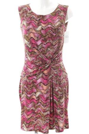 Joachim Bosse schulterfreies Kleid grafisches Muster Elegant