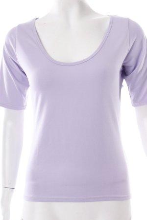 Joachim Bosse T-Shirt flieder schlichter Stil