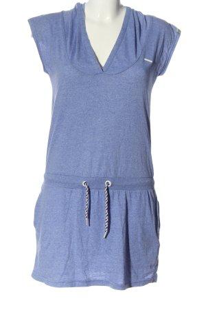 Joamgoj Robe à capuche bleu moucheté style décontracté