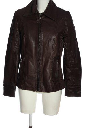 Jobis Faux Leather Jacket brown casual look