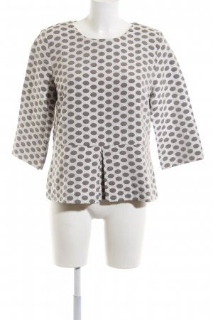 Jobis Long Sleeve Blouse natural white-light grey spot pattern business style