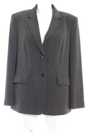 Jobis Long-Blazer schwarz-beige Punktemuster Business-Look