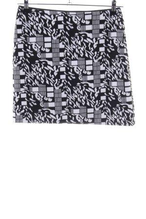 Jobis Minigonna nero-bianco motivo astratto stile casual