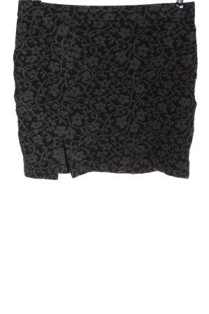 Jobis Minigonna nero-grigio chiaro stampa integrale stile casual
