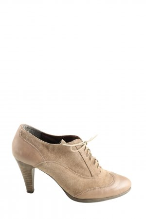 Jobis Lace-up Booties natural white business style