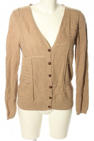 Jobis Cardigan brown cable stitch casual look