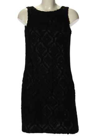 Jobis Vestido tejido negro estampado gráfico elegante