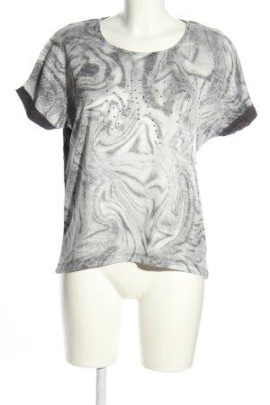 Jobis T-Shirt hellgrau-weiß abstraktes Muster Casual-Look