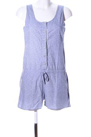 Jockey Jumpsuit lila-blau Blumenmuster Casual-Look