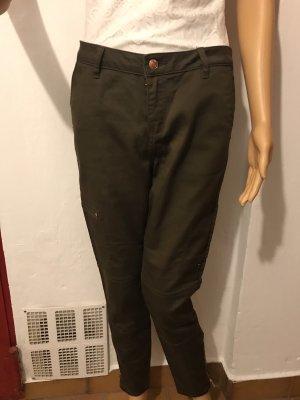 Vero Moda Pantalone alla cavallerizza verde oliva