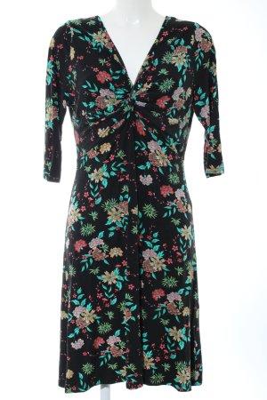 Joe Browns Langarmkleid schwarz Blumenmuster Elegant