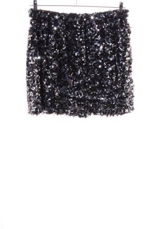 Joe Fresh Minirock schwarz-silberfarben Glitzer-Optik