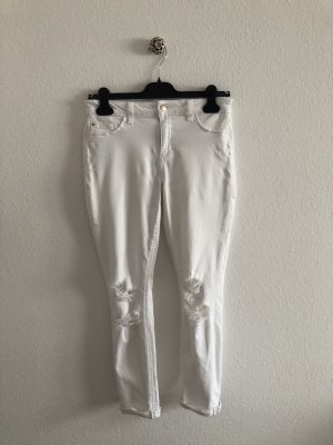 Joe's weiße Jeans mit Löchern am Knie