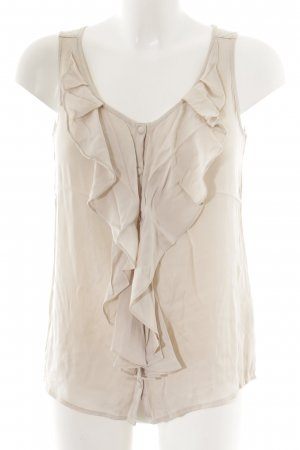 Joe Taft ärmellose Bluse nude-beige Business-Look