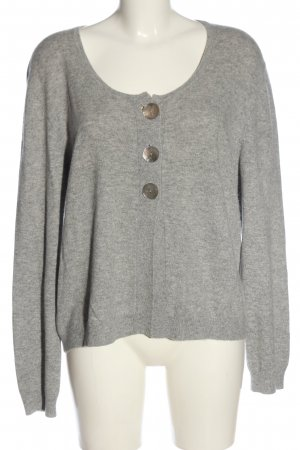 Joe Taft Cardigan hellgrau meliert Casual-Look