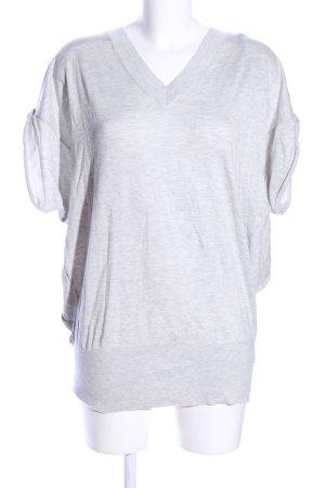 Joe Taft V-Ausschnitt-Shirt hellgrau meliert Casual-Look